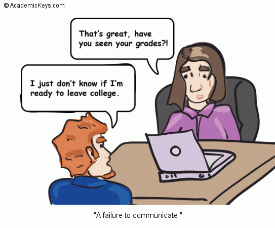 Cartoon #79, A failure to communicate.